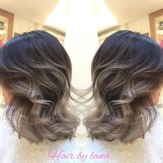 "110 Likes, 4 Comments - LANA MAI (@lana.mai.hair) on Instagram: ""Here again , grey Ombre work with short hair. Natural sunlights exfect For Oct and Nov app…"""