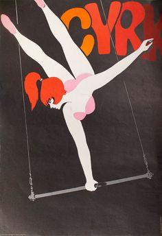 """""""Aerialist on 1 Hand"""" by Hubert Hilscher 1967"""