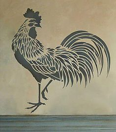 This is for my Kitchen on top of the Cabinets - Cutting Edge Stencils - Rooster Stencil