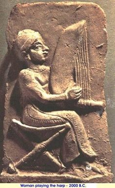 Lyres from The Royal Tombs of Ur Detail of a Sumerian woman playing a harp. This bas-relief is from a later period. Ancient Aliens, Ancient History, Art History, Ancient Mesopotamia, Ancient Civilizations, Ancient Near East, Ancient Artifacts, American History, Ancient Egypt