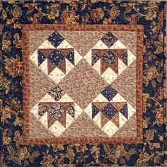 Miniature kids quilt made with Quilter's Starter Kit. Butterfly Quilt, Civil War Quilts, Bear Paws, Small Quilts, Starter Kit, Quilt Making, Bohemian Rug, Miniatures, Templates