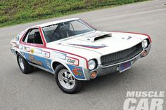 Amc Gremlin, Amc Javelin, Old Race Cars, American Motors, Pony Car, Drag Cars, American Muscle Cars, Car Humor, Big Trucks