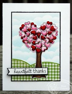 "Paper Perfect Designs by Kim O'Connell : There She Goes Clear Stamps ""Heartfelt Thanks"" - (release date - 1/26/13)"