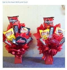 Amateur Hour: Floral Design, Baking, DIY: Easy DIY Valentineu0027s Day Gift For  Him! Junk Food Bouquet With A Movie