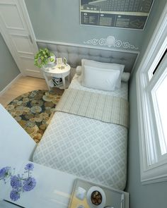 94 Wonderful Small Apartment Bedroom Design Ideas and Decor Box Bedroom, Single Bedroom, Room Ideas Bedroom, Home Decor Bedroom, Teen Bedroom, Bedroom Furniture, Very Small Bedroom, Small Room Bedroom, Small Rooms