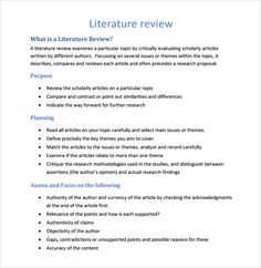 Review Of Related Literature In Thesis  Literature Review