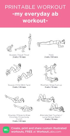 -my everyday ab workout-:you should try it out xx