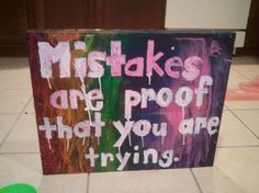 Crayon melting canvas with quote