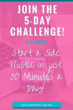 Overwhelmed with ALL. THE. THINGS? You want to start your blog or biz, but you don't know where to start, so you do nothing. Join the 5-Day Challenge and get started in just 30 minutes a day! Click through to join!