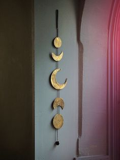 PREORDER (Sold Out) Moon Child Wall Hanging Gold Shimmer Moon Phases Decor by LadyScorpio101 on Etsy https://www.etsy.com/listing/248016973/preorder-sold-out-moon-child-wall