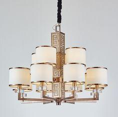 MI-GO米高 中式回纹吊灯 Chinese stainless steel pendant lamp