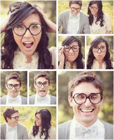 Heart glasses! Such a cute couple idea.