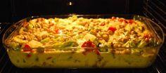 Gräddig kycklinggratäng med bacon och jordnötter - Recept - Matklubben.se