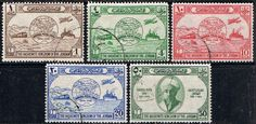Jordan Stamps 1949 Universal Postal Union Set Fine Used SG 285 9 Scott 245 9 Other UPU Stamps Take a LOOK