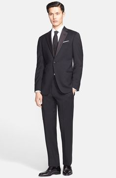 Free shipping and returns on Armani Collezioni 'Giorgio' Trim Fit Notch Lapel Tuxedo at Nordstrom.com. <B>Receive Free Next Business Day