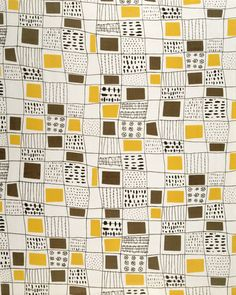 Checkers Upholstery Fabric, by Terence Conran for David Whitehead Ltd, … - Haus Design Motifs Textiles, Vintage Textiles, Textile Patterns, Terence Conran, Retro Pattern, Pattern Art, Graphic Patterns, Print Patterns, Paper Scrapbook