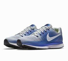 eba02fb649734f Nike Air Zoom Pegasus 34 Mens Running Shoes 8.5 Wolf Grey Racer Blue  Nike