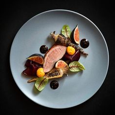 Duck, parsnip, figs, beets, pumpkin. More