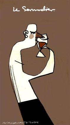 """Le Sommelier"" – wine poster mxm"