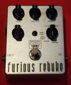 Furious Rebuke (Zero-Sen bass distortion / overdrive guitar pedal by Butterfly Effect Pedals.