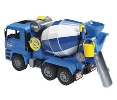 Buy Bruder MAN Cement Mixer at Mighty Ape Australia. MAN Cement Mixer The tipping driver's cab of the MAN cement mixer lorry provides a view of the engine block. The mirrors of the driver's cab fold out. Man, Cement Mixer Truck, 4 Year Old Boy, Lego, Audi, Bmw Autos, Play Vehicles, Concrete Mixers, Rubber Tires