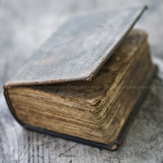 Aleck MacGregor's old bible carried around in Jamie's sporran.