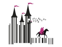 Castle Bar Code PD Barcode Art, Barcode Tattoo, Barcode Design, Logo Design, Graphic Design, Castle Illustration, Graphic Illustration, Service Assiette, Animal Graphic