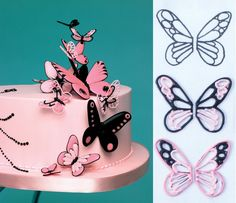 Royal icing runout butterflies