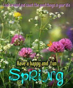 Free online Count The Good Things In Your Life ecards on Spring 1st Day Of Spring, Happy Spring, Hello Spring, Spring Time, New Month Greetings, Spring Quotes, Garden Entrance, Picture Postcards, Composers