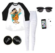 """""""Yabba dabbin Fred"""" by shamelesslymaya on Polyvore featuring Yves Saint Laurent and Apple"""