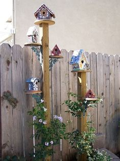 birdhouses   could also make more naturel..but nice inspiration by bernice