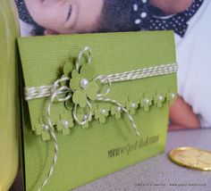 Pretty with the flowers along the edge of a folded card. @ Gaby Creates: You're My Good Luck Charm   Timeless Twine (May'13)