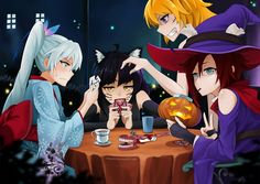 A rwby Halloween Rwby Anime, Rwby Fanart, Rwby Blake, Rwby Characters, Rwby Red, Rwby Comic, Rwby Ships, Blake Belladonna, Fantasias Halloween