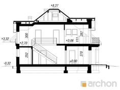 Dom w tymianku 6 House 2, Floor Plans, Architecture Details, Diagram, Houses, Projects, Floor Plan Drawing, House Floor Plans