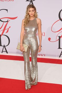 Gigi Hadid at the 2015 CFDA Awards Photo by Taylor Hill/FilmMagic  via @AOL_Lifestyle Read more: http://www.aol.com/article/2016/06/06/most-memorable-red-carpet-moments-from-the-cfda-awards/21390222/?a_dgi=aolshare_pinterest#fullscreen