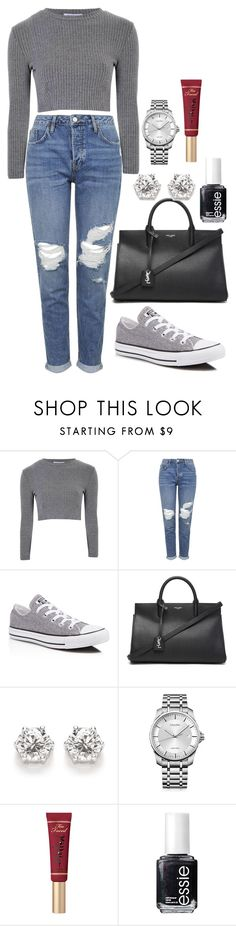 """Untitled #138"" by marr-neubauerova on Polyvore featuring Glamorous, Topshop, Converse, Yves Saint Laurent, Calvin Klein, Too Faced Cosmetics and Essie"