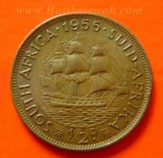 1955 South African half penny