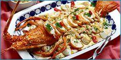 Puntadas deliciosas: Menú gallego Langosta en salpicón