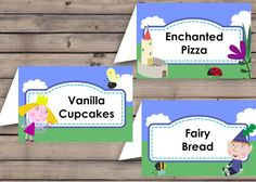 This is a Ben and Holly Food label template and is a creation for delivery of a DIGITAL FILE ONLY. It can be a quick last minute Do it Yourself