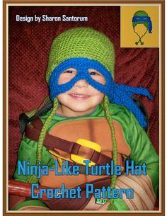 NinjaLike Turtle Hat Crochet Pattern PDF  INSTANT by creeksendinc, $2.99