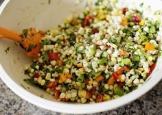 Grilled Corn Salad with Fresh Herbs - Baked Bree