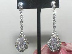 Margaret - BEAUTIFUL rhinestone drop earrings - SPECIAL - BACK IN STOCK