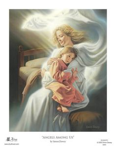 Angels Among Us print - Altus Fine ArtYou can find Angels among us and more on our website.Angels Among Us print - Altus Fine Art Angels Among Us, Simon Dewey, Celestial, Catholic Pictures, Lds Art, I Believe In Angels, Angel Pictures, Pictures Of Guardian Angels, Beautiful Angels Pictures
