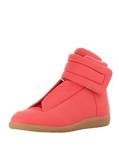 Future Leather High-Top Sneaker, Pink  by Maison Martin Margiela at Bergdorf Goodman.