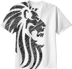 0000000P/Lion Tribal Tattoo All Over Print Tshirt Design