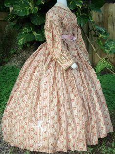 Challis Day Dress c.1860