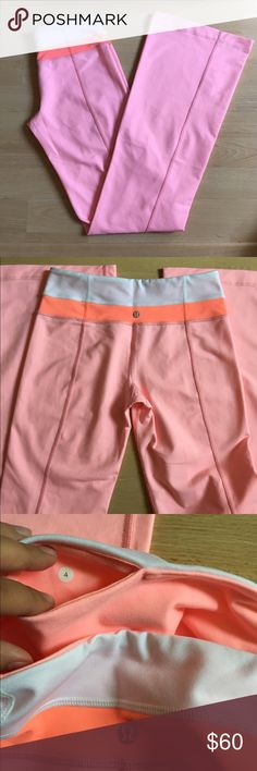 RARE Reversible Lululemon Groove Pants Pink/coral Groove pants in excellent/like new condition. Only worn once or twice before I grew out of them. Great, RARE color/pattern to add to your collection! Size 4 regular. Yoga pants with wide waist band and flare towards the bottom. Please let me know if you are interested and have any question 😊 lululemon athletica Pants Track Pants & Joggers