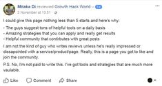 Growth Hack World is an online community for aspiring and established growth hackers looking for 10x growth; to pick up and share tons of useful knowledge to take ourselves, our businesses and our lifestyles to the NEXT LEVEL! #togetmoreinformation https://growthhack.world/