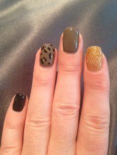 Cnd shellac nail art - leopard print