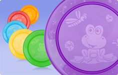 i love the frogs, its like they are eating with the little one!! #nuby